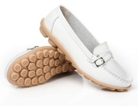 worth to buy +free shipping 2013 hot style womens flats shoes,size35-40fashion 6color cheap genuine leather flats  C00847