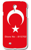 Turkey national flag Hard Case Cover for Galaxy S4 SIV I9500 10pcs/lot free shipping
