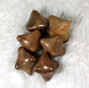 Camphor wood hexagonal massage ball hand health ball natural wood massage device 's wool hand