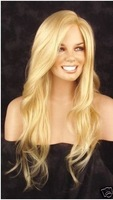 2013 European Hair Free Shipping New fashion long Blond brown women wig