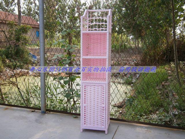 Wicker rattan straw braid crafts telephone rack flower cabinet corner cupboard straw braid cabinet(China (Mainland))