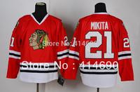 Free Shipping  Cheap Authentic Chicago Blackhawks Ice Hockey Jerseys #21 Stan Mikita Jersey Wholesale Mix Order