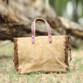 Oil leather accessories handbag casual bag linen