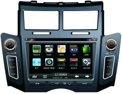 Toyota Yaris DVD GPS Navigation 6.2inch 800x480 2DIN WVGA Digital TFT LCDTouch-screenRotary bluetooth multimedia playing(China (Mainland))