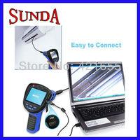 "3.5"" Endoscope borescope snak 8.5mm LED camera DVR rotatable waterproof USB video recording free shipping"