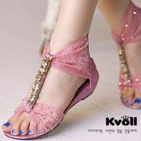 Women Sandal, Sandals,  rhinestone flat low-heeled lace flat heel Sandals Women Shoes pink  Shoes Woman high heel Sandals