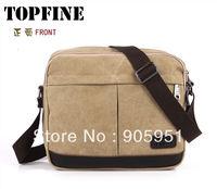 Mini order $15 2013 New College wind with leather canvas bag man bag casual shoulder bag Messenger bag Men's Messenger packet