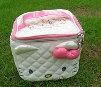 Fashion  Hight  Qulity   Kitty   Women Zipper Cosmetic Case Bag Makeup Purse