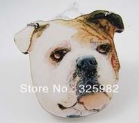 Wholesale 5Pcs/Lot NNV Cool Bulldog Dog Head Pendant Good Wood Wooden Chain Hip-Hop Cowboy Necklace 001