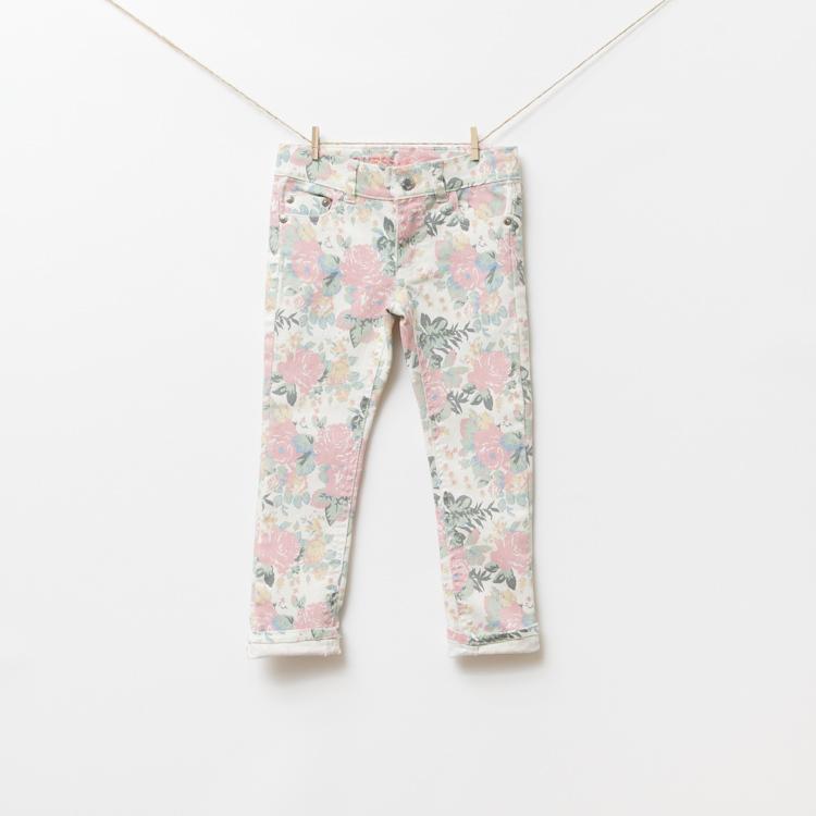Flower Printed Jeans Print Jeans,5pcs/lot