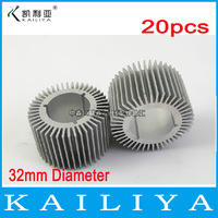 20pcs 3W LED Aluminum Heat Sink,High power LED Radiator,DIY LED Accessories,32mm diameter