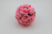 Promotion 20CM artificial flower ball plastic flower rose silk flower ball home decoration wedding decoration