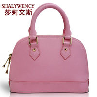 Jelly shell bag Small Large genuine leather handbag one shoulder messenger bag cross cherry powder