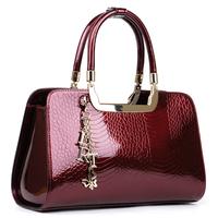 Crocodile women's handbag 2013 bags crocodile pattern cowhide japanned leather patent leather handbag