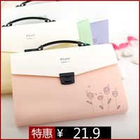 Hot-selling stationery fb203 multi-layer portable expanding file bag bags a4 13