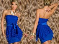 Piece Free Shipping Rhinestone Wholesale Charming Style Chest Wrap Lady Sexy Slim Mini Dress