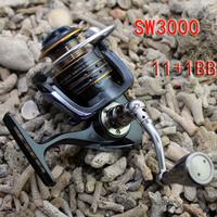 Fishing Spinning Reel SW3000 11+1 ball bearing  For Salt Water ( Standard )  Fishing Free Shipping