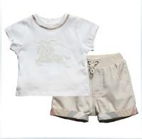 Retail Brand Boy's T-shirt+Palid Shorts/Children's short sleeve Shirt+Hot Pants/Cute Baby Kids Clothes 2In Sets