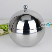 Stainless steel spherical ice-pail mini ice bucket ice bucket insulation champagne bucket steel ice bucket