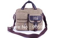 Mini order $15 2013 Shoulder diagonal bag business casual washed canvas bag Korean style multifunction men's bags