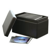 Faux leather cd hipce quality professional cd storage box big capacity s cdb-150