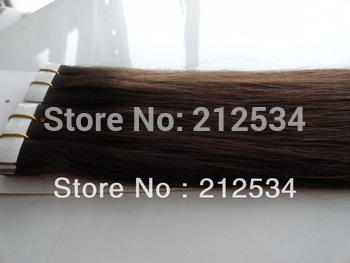 AAA 2.5G/piece 40 pieces/pack tape hair  glue pu skin weft 100% human  Hair Extensions free shipping
