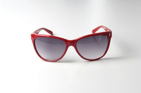 Free Shipping,  New brand  women Sunglasses  CAT EYE STYLE UVA UVB UV400 CH8012  red