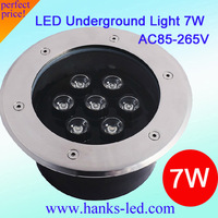 20 PCS/Lot IP67 Epistar High Power 7W led buried light/ Round inground lamp