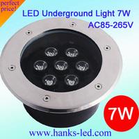 20 PCS/Lot IP67 Epistar High Power 7W led buried light/ Round inground lamp