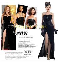 Placketing formal dress black evening dress evening dress cars formal dress star 21673