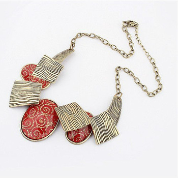 Free Shipping! 2013 Retro Geometric Circular Brand Necklaces Fashion Link Chain Jewelry For Women N489