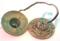 TRADITIONAL TIBETAN BRASS CARVED DRAGON BELL