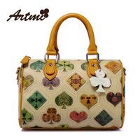 Artmi small bag vintage poker print women's bags laptop messenger bag