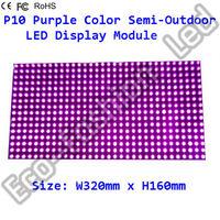 P10 Semi-Outdoor Purple Color Advertise Led Board Module