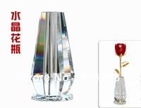 Wedding promotional gift  crystal bottle for crystal rose crystal vase