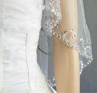 New 2T White Ivory Bride Bridesmaids Wedding Dresses Handmade beaded Veil