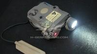 Tactical PEQ-15 Red Laser Led Flashlight (Tan)