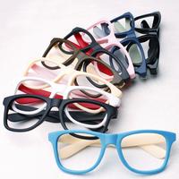 Non-mainstream big thick-framed glasses frame scrub eyeglasses frame plain glass lens eye box