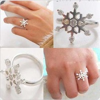 wholesale Halloween jewelry silver snow ring for women,fashion jewelry Free shipping