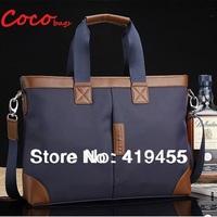 Hot sale retail 2014 top quality brand blue black male laptop messenger bags for 14 inch canvas briefcase bag for men BG0160