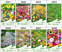 1600 Seeds 8 Different Wildflowers Seeds Flowers Seeds Mixed Colors Specie Blooming Elegant Fragrance Free shipping