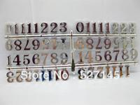 Free Shipping Silver Arabic Clock Repair Numbers 20mm 100sets/lot (15pcs/set)