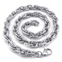 FREE SHIP! New Arrival Fashion Jewelry 48g Cool Silver Stainless Steel 9mm Man's Necklace,21.6'' TG1101
