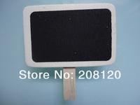 50pcs/lot Mini Small Blackboard of Clip Peg Wooden  CHALKBOARD Chalk For Wedding/School/Office/Party/Dining Room
