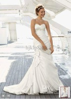 Wholesale - 2012 NEW! Satin Sexy Sweetheart Mermaid Wedding Dresses Bow Detail Chapel train Wedding Dress