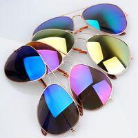 I-bright Super hot 3025 reflective lens sunglasses aviator blue lens sunglasses sports eyewear multi-color 10pcs/lot