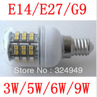 G9 85-265V E14/E27/G9 Cold white / Warm White 360 Degree 5050 SMD Led Light Bulb Lamp Energy Saving 50pcs/lot + free shipping