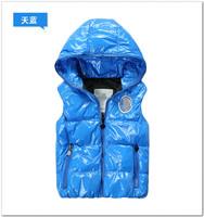 Children's clothing boys girls hoody vest down coat autumn vest down liner