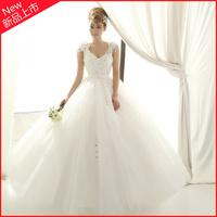The bride wedding dress formal dress noble double-shoulder wedding princess wedding dress new arrival 2013 flower wedding qi