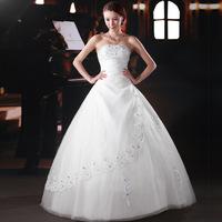 Urged 2013 sweet princess tube top brief spring wedding dress 843
